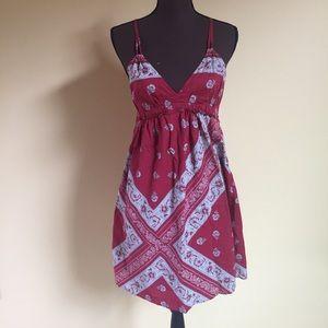 Converse One Star Dress Empire Waist Cotton Red S